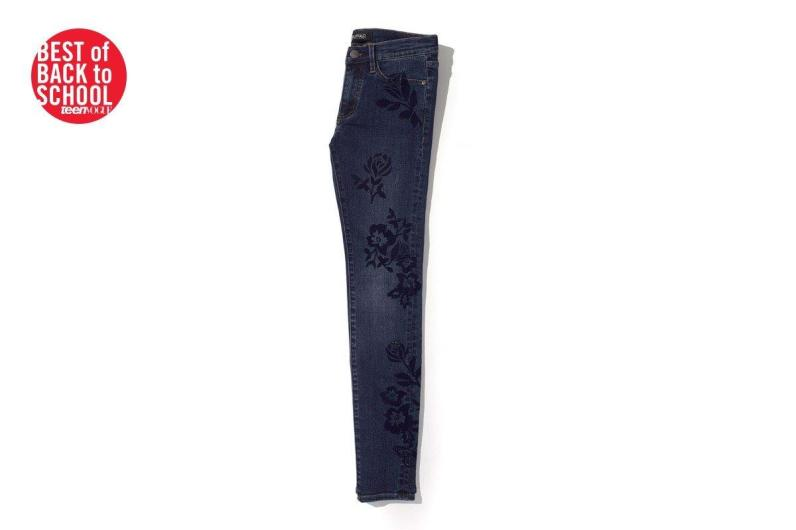 TEEN VOGUE's BEST OF BACK TO School Award our FAITH flocked jean!